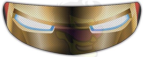 Iron Man Helmet Visor Sticker Superhero Motorcycle Shield Decal Tint Eyes