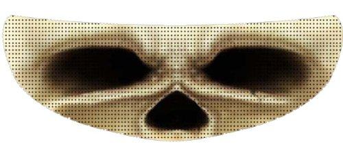 SkullSkins Skull Eyes SK Motorcycle Shield Skin White