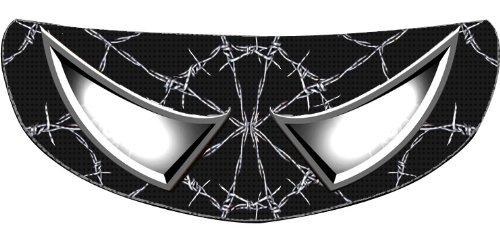 SkullSkins Wired Web SK Motorcycle Shield Skin Black