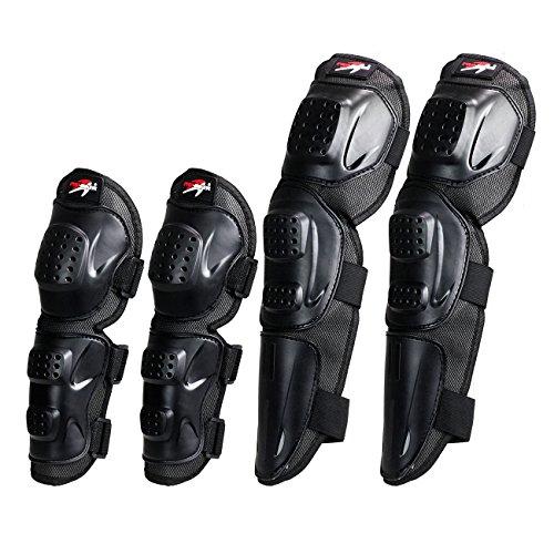 Pro-biker P06 Adults Fashion 4pcs Kit Of Elbow Knee Shin Armor Protect Guard Pads Accessories Flexible Breathe