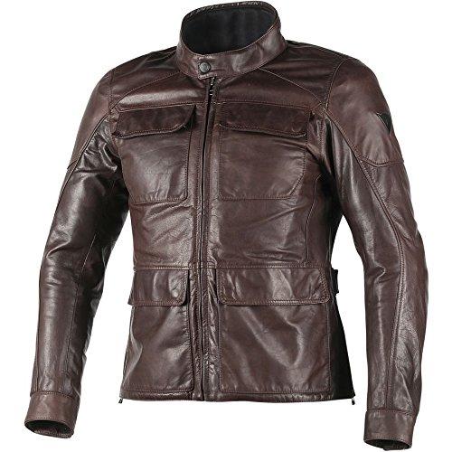 Dainese Richard Leather Classic Motorcycle Jacket Dark Brown 58 Euro48 USA
