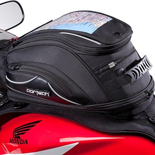 Cortech Super 20 10L Strap Mount Motorcycle Tank Bag - Black  One Size