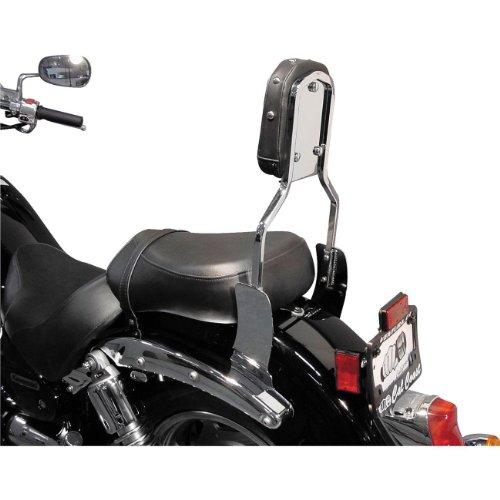 MC Enterprise Chrome Sissybar and Studded Backrest for 2008-2009 Honda CMX250 R