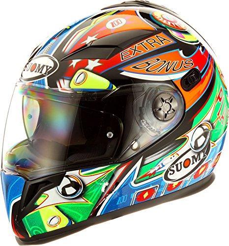 Suomy Halo Streetbike Racing Motorcycle Helmet Pinball Medium