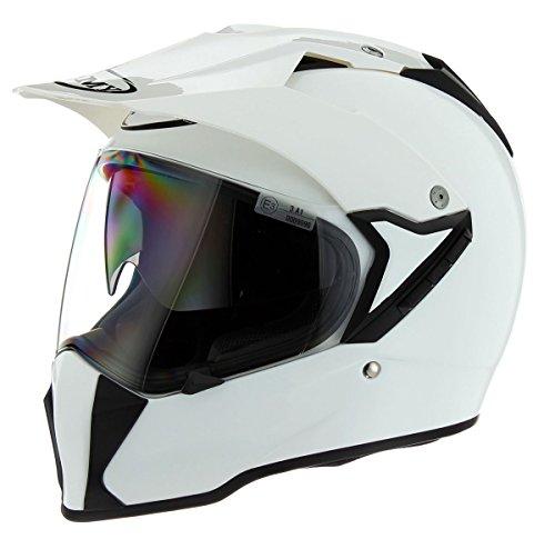 Suomy Solid Mx Tourer Touring Motorcycle Helmet - Plain White  X-Large