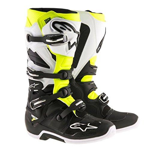 Alpinestars Tech 7 Enduro Motocross Boots - BlackWhiteYellow - 8