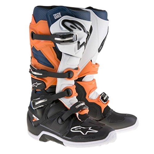 Alpinestars Tech 7 Enduro Motocross Boots - OrangeBlue - 11