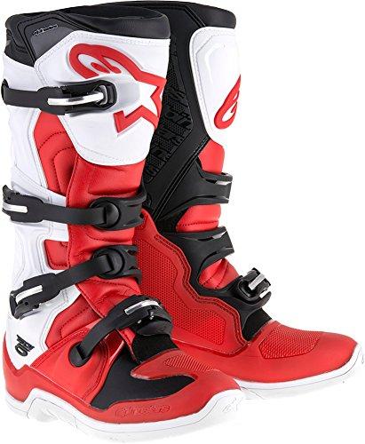 Alpinestars Tech 5 Boots-RedWhiteBlack-11