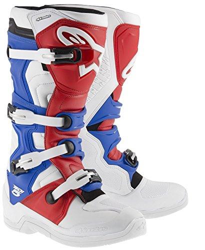Alpinestars Tech 5 Boots-WhiteRedBlue-10