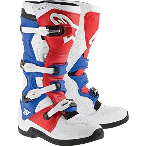 Alpinestars Tech 5 MX Boots Adult Motocross Sole WhiteRedBlue - 10