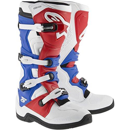 Alpinestars Tech 5 Mens Off-Road Motorcycle Boots - WhiteRedBlue  10