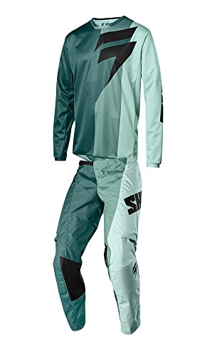 Shift Racing 2018 White Label Tarmac Combo Teal Jersey Pants Riding Gear Dirtbike MX ATV Offroad Adult Mens