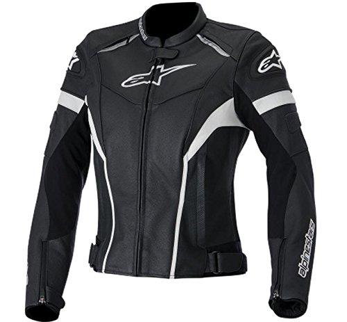 Alpinestars Stella GP Plus R Leather Womens Jacket Gender Womens Primary Color Black Size 40 Apparel Material Leather Distinct Name BlackWhite 3110514-12-40