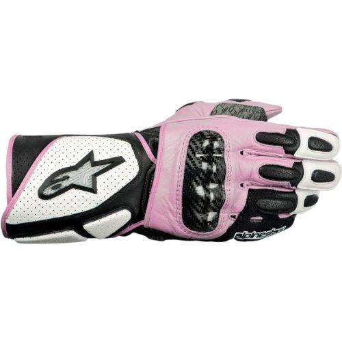 Alpinestars Stella SP-2 Womens Leather Gloves  Distinct Name WhiteBlackPink Primary Color Pink Size Lg Gender Womens Apparel Material Leather 3518212-239-L