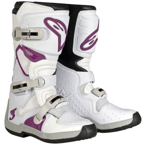 Alpinestars Stella Womens Motorcycle Motocross MX Boots Tech 3 WhiteViolet 6