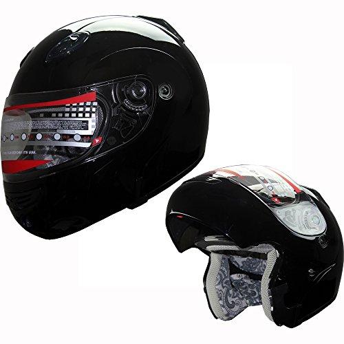 Snowmobile Helmet Motorcycle Helmet Modular Flip up Anti Fog Black M