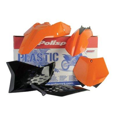 Polisport Complete Replica Plastic Kit KTM Orange for KTM 250 XC-W E-Start 2008-2011