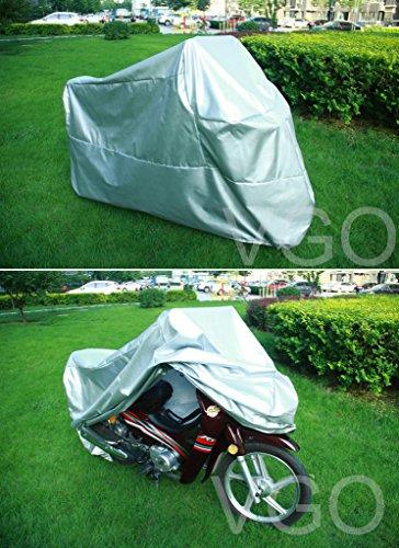 Outdoor UV Protector Motorbike Rain Dust Bike Motorcycle Cover L Silver