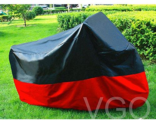 Outdoor UV Protector Motorbike Rain Dust Bike Motorcycle Cover XXL Black Red