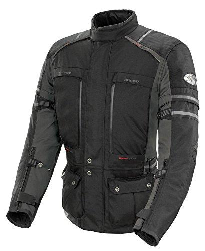 Joe Rocket Ballistic Adventure Men's Textile Touring Motorcycle Jacket (black/gunmetal, Large)