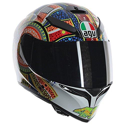 AGV K3 Adult Dreamtime Helmet Street Motorcycle Helmet - WhiteOrangeBlue  MediumLarge