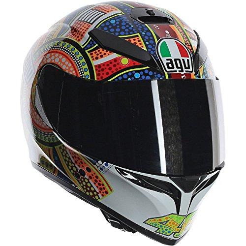 AGV K3 Adult Dreamtime Helmet Street Motorcycle Helmet - WhiteOrangeBlue  SmallMedium