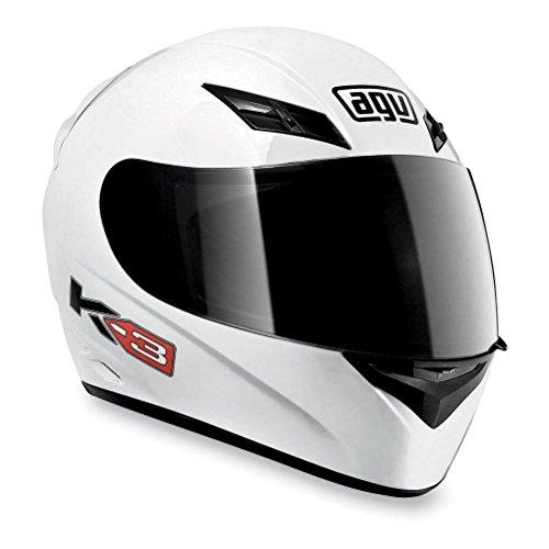 AGV K3 Full Face Motorcycle Helmet White Large