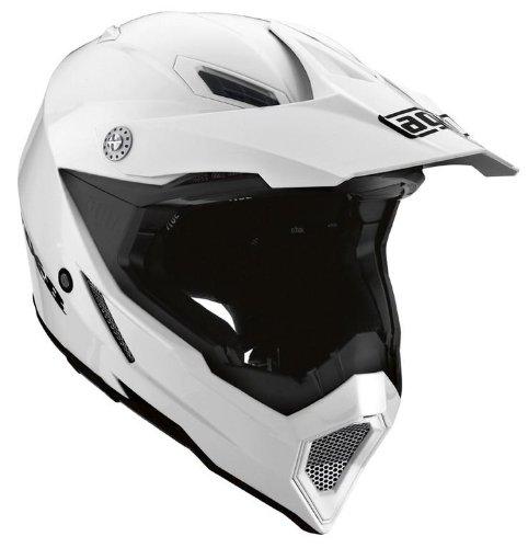 AGV AX-8 EVO Solid Helmet  Size Sm Primary Color White Distinct Name White Helmet Type Offroad Helmets Helmet Category Offroad Gender MensUnisex 7511O4C0001005