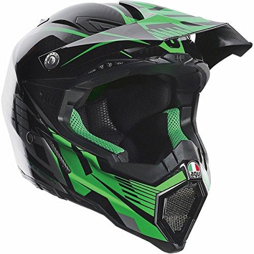 AGV AX-8 Evo Carbon Adult Helmet - GreenGray  Medium