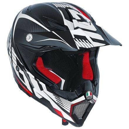 AGV AX-8 Evo Helmet CarbonWhiteRed Large