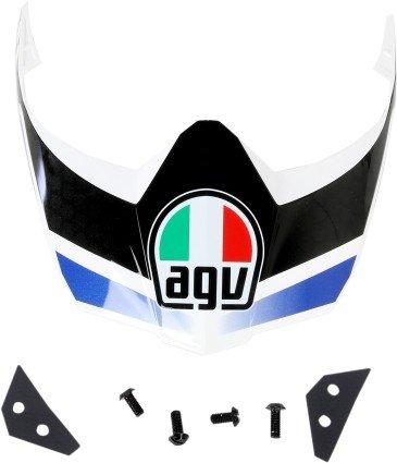 AGV Helmet Visor for AX-8 Dual SportEVO - WhiteGunmetalBlue 0132-0874