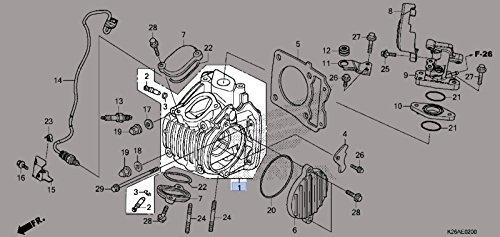 Honda 2014-2017 Grom125 Cylinder Head 12200-K26-901 New OEM