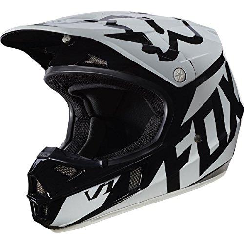 Fox Racing 2017 Race Youth V1 Motocross Motorcycle Helmet - Black  Large