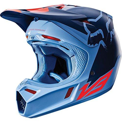 Fox Racing Libra Adult V3 Motocross Motorcycle Helmet - OrangeBlue  Medium