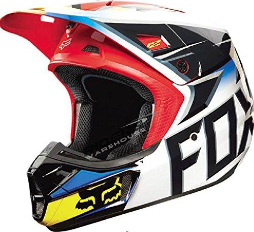 Fox Racing Race Mens V2 Motocross Motorcycle Helmet - BlackRed  2X-Large
