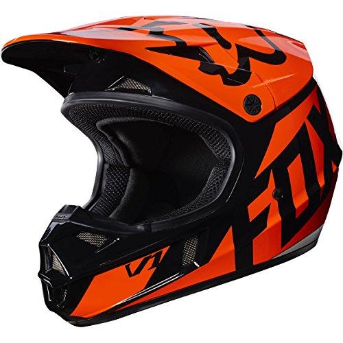 Fox Racing Race Youth V1 Motocross Motorcycle Helmet - Orange  Large