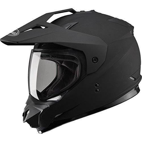 GMAX GM11 DS Solid Mens Motocross Motorcycle Helmet - Flat Black  Medium