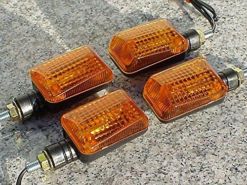 I5® Black/amber Turn Signals For Honda Kawasaki Suzuki Yamaha Harley