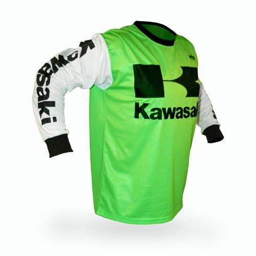 Reign VMX Kawasaki Vintage Style Motocross Jersey - Size X-Large