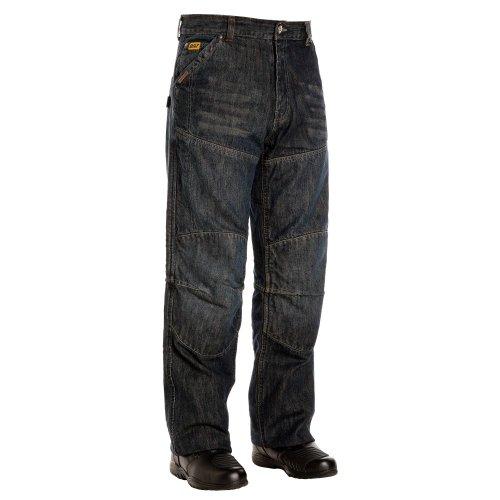 Bilt Iron Workers Steel Motorcycle Jeans - 38, Dark Blue