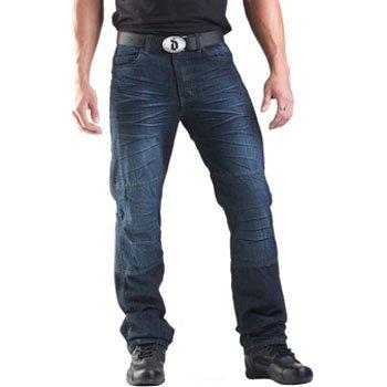 Drayko Drift Riding Jeans Men's Denim Street Bike Motorcycle Pants - Indigo / Size 34