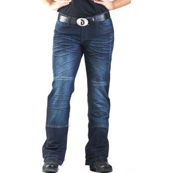 Drayko Drift Riding Jeans Women's Denim Sports Bike Motorcycle Pants - Indigo / Size 12