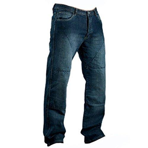 Juicy Trerdz Men's Denim Motorcycle Motorbike Sports Jeans With Aramid Protection Lining Blue W34 X L32