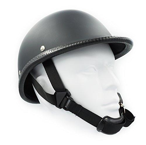 Hot Rides Classic Chopper Biker Motorcycle Helmet Novelty For Cruiser Harley Scooter ATV Hawk Flat Black X-Large