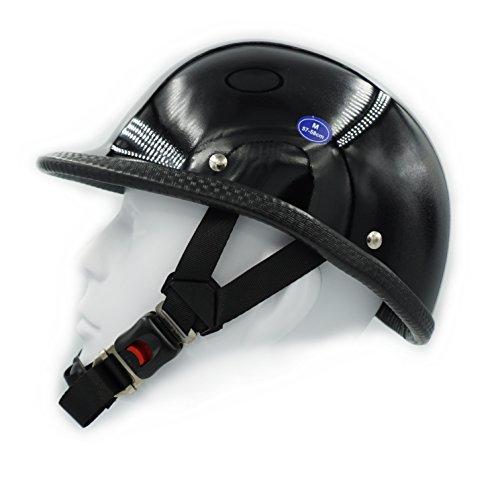 Hot Rides Classic Chopper Biker Motorcycle Helmet Novelty For Cruiser Harley Scooter ATV Hawk Gloss Black Medium