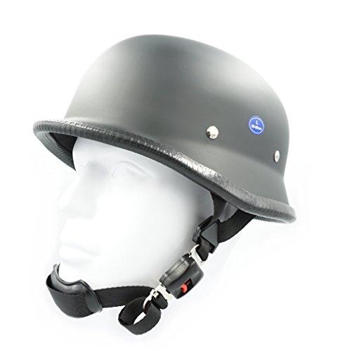 Hot Rides Classic Chopper Biker Motorcycle Helmet Novelty German Flat Black X-Large