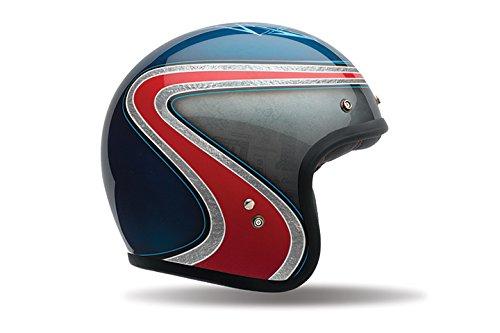 Bell Custom 500 SE Classic Helmet - Airtrx Heri Blue  Red - Medium