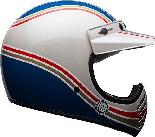 Bell Moto 3 Classic Helmet - RSD Malibu Blue  White - Small