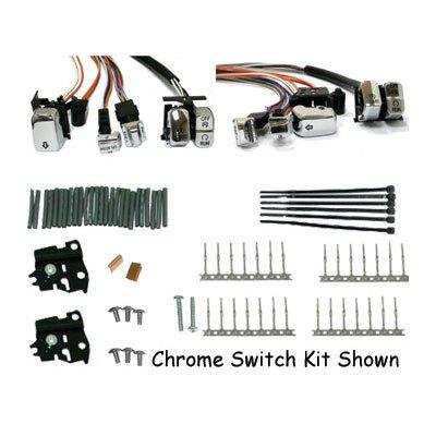 Bkrider Led Chrome Handlebar Switch Kit For 2007+ Harley-davidson Touring With Radio Accessory (c01052476)