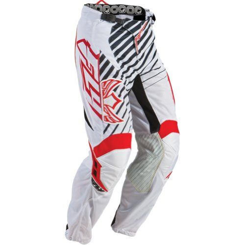 Fly Racing Kinetic Rs Mesh Men's Off-road/dirt Bike Motorcycle Pants - Red/white / Size 28